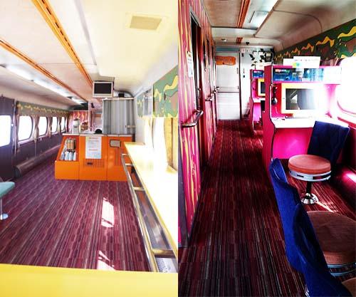 열차 카페 옛날 식당칸을 대신해 자리하고 있는 열차카페