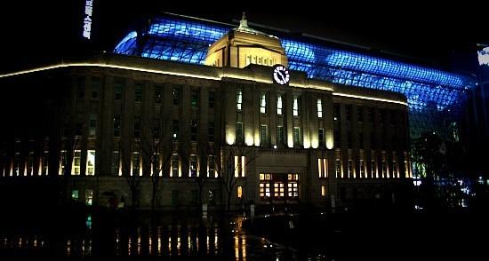서울도서관의 밤 야경