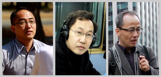 <나는 시민기지다>의 저자, 김용국, 김종성, 최병성 시민기자.