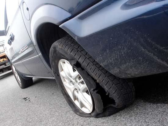 할 말을 잃게 만든 타이어.