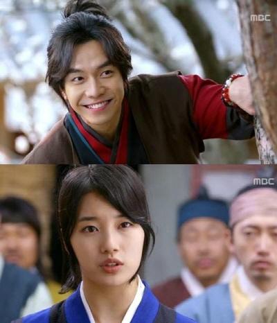 MBC 월화드라마 <구가의 서>에 첫 등장한 이승기와 수지. 15일 방송 중 한 장면.