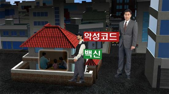 KBS 9시 뉴스는 지난 4월 11일 3·20 방송·금융사 전산망 해킹 사건을 보도하면서 안랩을 경비원 제복을 빼앗긴 경비업체에 비유했다.