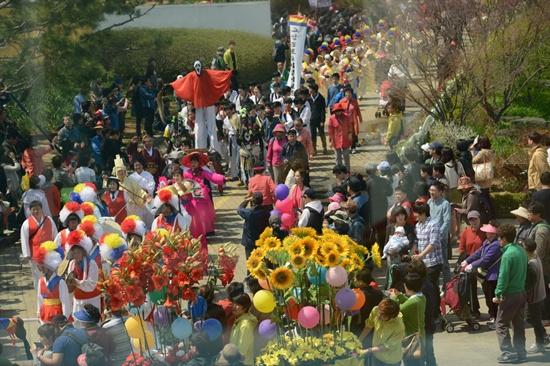 27일, 고양국제꽃박람회 개막식이 호수공원 일대에서 열렸다.