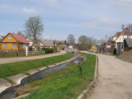 리투아니아의 작은 도시 우크메르게.