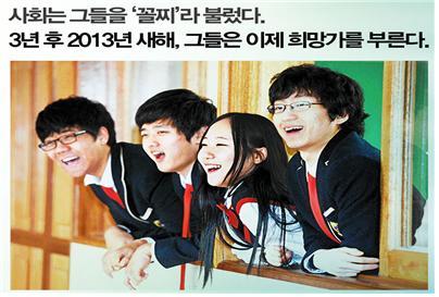 경기도 용인의 흥덕고등학교 학생들
