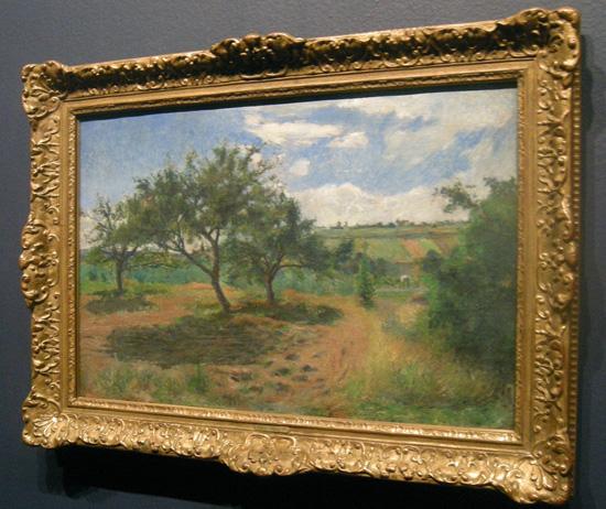 <퐁투아즈, 에르미타주 거리의 사과나무>(캔버스에 유화, 65×100cm, 1879. 스위스 아르가우어 시립미술관 소장)은 초기 인상화풍의 그림이다. ⓒ Aargauer Kunsthaus Aarau, Switzerland