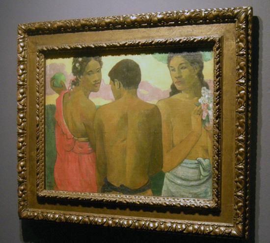 <세 명의 타히티인>(캔버스에 유화, 73×94cm, 1899, 스코틀랜드 에든버러 국립미술관 소장) ⓒ Scottish National Gallery, Edinburgh