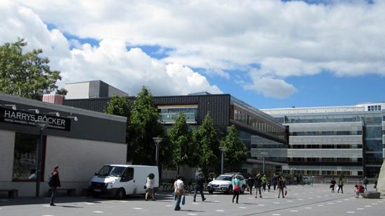 스톡홀름 중앙역에서 기차로 20여 분 거리에 위치한 쇠데르턴대학교 전경