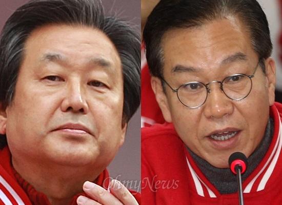 2012년 대선 당시 박근혜 새누리당 후보 캠프의 총괄선대본부장이었던 김무성 의원과 종합상황실장이었던 권영세 주중대사.