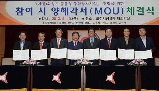 지난 5월 10일, 화성시는 7개 자치단체(안양·시흥·부천·의왕·평택·과천·군포 )와 공동형 종합장사시설 건립을 위한 MOU를 체결했다.