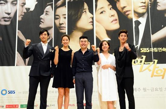 SBS 아침드라마 <두 여자의 방>의 강지섭, 왕빛나, 이명우 PD, 박은혜, 강경준