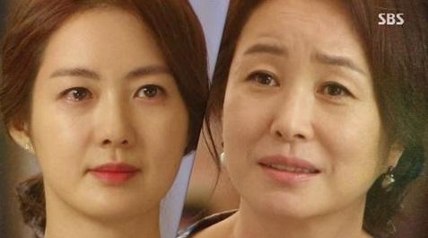 <황금의 제국>의 최서윤(이요원 분, 왼쪽)과 한정희(김미숙 분).