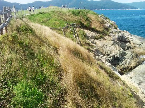 바람 갯가에서 부서지는 하얀 포말은 갯내음을 물씬 풍기며 바람의 언덕을 타며 오르고 있다.