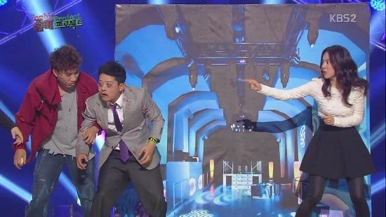 KBS <개그콘서트>의 한 장면.