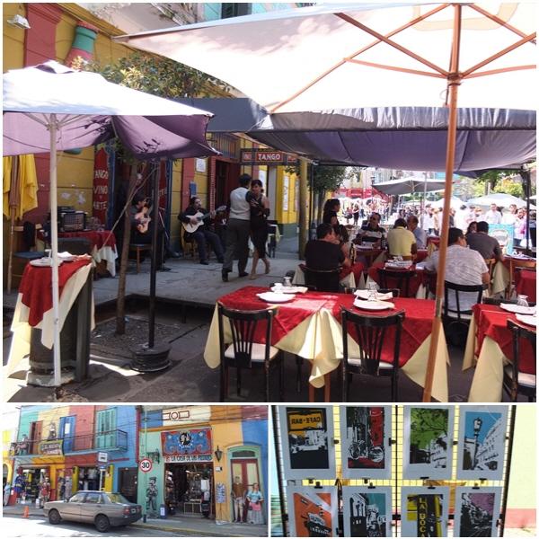 보카 거리 가득 들어찬 식당 한 켠에서는 언제나 라이브 탱고 공연이 벌어진다.