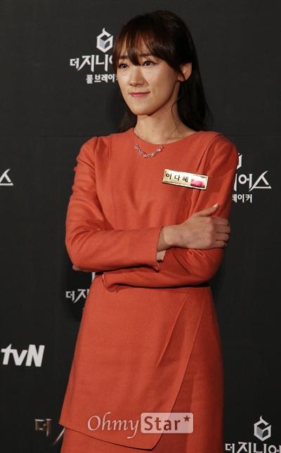 3일 오후 서울 상암동 CGV상암에서 열린 tvN <더 지니어스2:룰브레이커> 시사회 및 기자간담회에서 바둑기사 이다혜가 포즈를 취하고 있다.
