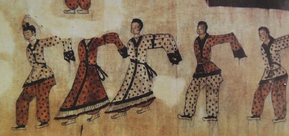 무용총의 춤추는 그림