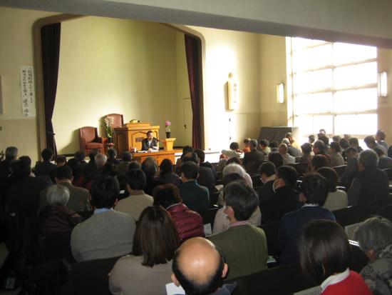 집회가 열린 일본기독교단 나고야교회