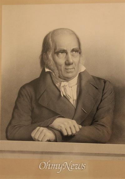 그룬트비 도서관에 있는 그의 초상화.
