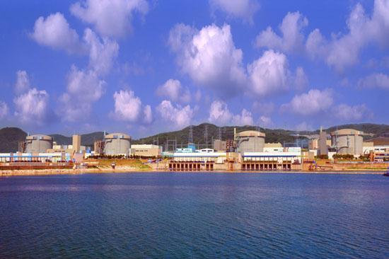경북 경주 월성 원전. 맨 오른쪽이 월성 1호기