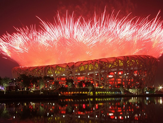 베이징 올림픽 개막식 불꽃놀이 중국의 소프트파워를 자랑하는 개막식과 화려한 불꽃놀이