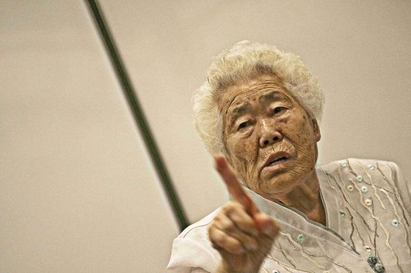 지난해 8월 독일을 방문한 일본 위안부 피해자 이옥선 할머니