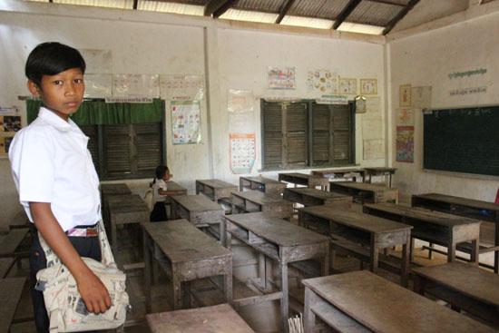 이 어촌마을의 유일한 초등학교 교실의 모습