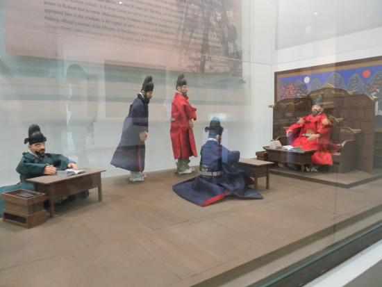 임금과 신하들의 모습. 경기도 남양주시 조안면에 있는 다산유적지(정약용 유적지)에서 찍은 사진.