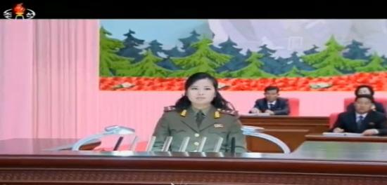 지난 16일, 평양 '예술인대회'에 등장한 현송월 .