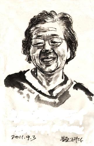 위대한 어머니 김봉준 작. 이소선 여사의 서거 추모 그림