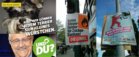 독일의 선거 홍보물들