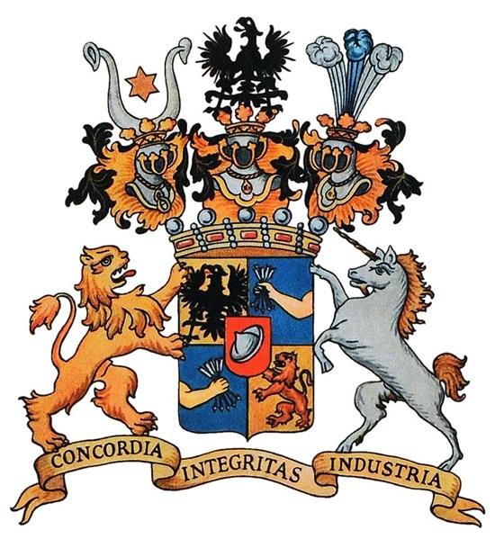 세계 금융을 선도하는 로스차일드가의 문양 로스차일드가는 0.01%가 지배하는 세계 권력의 상징이다.
