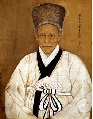면암 최익현 초상(勉菴 崔益鉉, 1833~1906년) 비단에 채색, 청양 모덕사 소장.