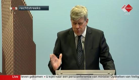 대책 발표중인 네덜란드 법무부장관
