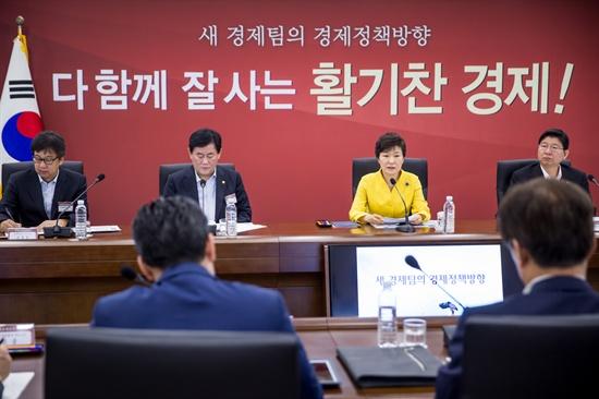 박근혜 대통령이 지난 24일 오전 정부세종청사에서 열린 확대 경제관계장관회의를 주재하고 있다.