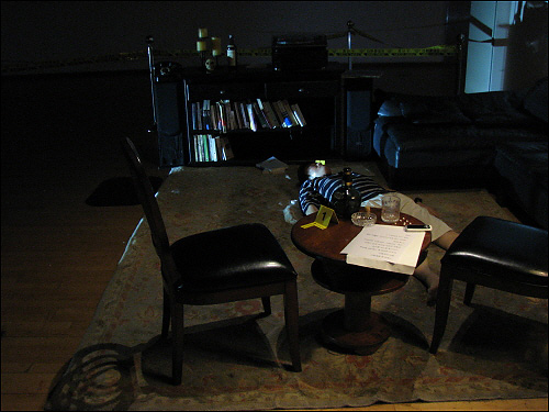 CSI 프로파일링 체험전 자택거실에서 발견된 시신, 체험전 참가자들은 이 사건을 수사해야한다.