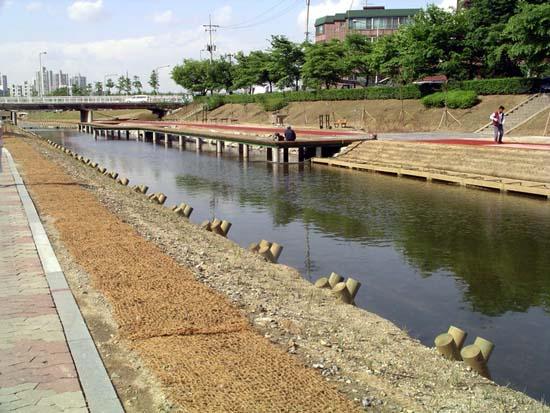 성내천 생태복원공사  2005년 5월