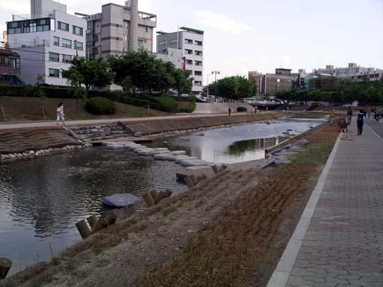 성내천 생태 복원공사  2005년 5월