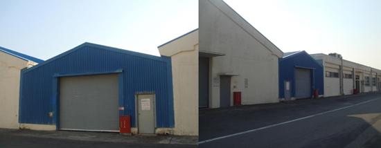 원자력발전소 내 불법 건축물 고리 4호기 내 건축허가를 받지 않고 불법으로 지어진 건축물(파란색)