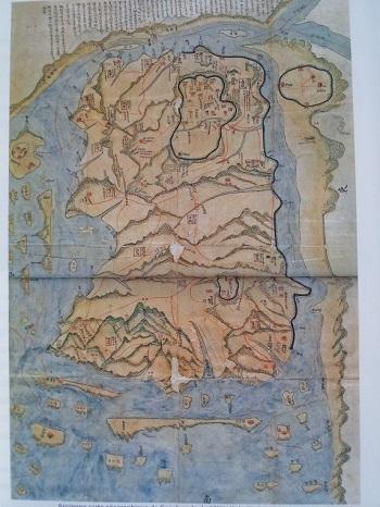 강화도의 옛 지도입니다.