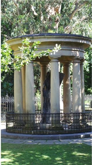 전쟁 중에 파괴된 바스크인의 상징인 참나무 거목의 남은 일부
