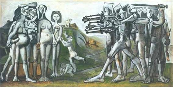조선에서의 학살(Massacre in Korea) 파리 피카소 미술관 소장.