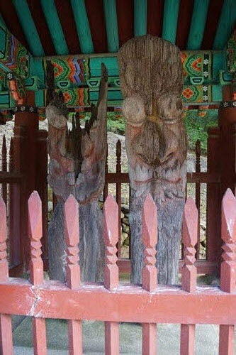 벽송사 나무 장승 벽송사 나무 장승