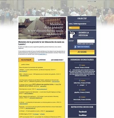 독립 언론 <모두를 위한 루브르> 홈페이지. http://premierdimanchedumoisgratuitaulouvre.wesign.it/fr