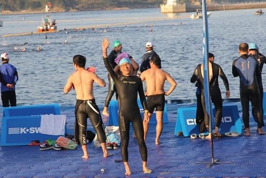 대회 전날...바다수영 연습 시간