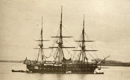 1866년 8월에 평양 대동강을 침입했던 미 상선 제너럴셔먼호