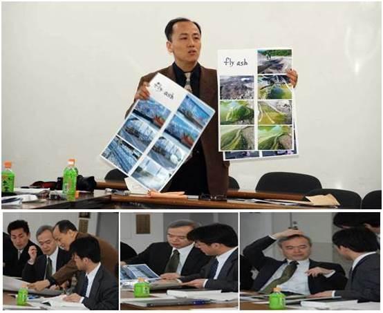 일본 환경성을 방문하여 일본 폐기물이 한국에 수입되어 환경오염을 일으킨 사진들을 보여주고, 더 이상 일본 페기물을 한국으로 보내지 말 것을 당부했습니다. 제가 준 사진들을 살펴 본 후 난감해하는 일본 환경성 직원들 모습입니다.