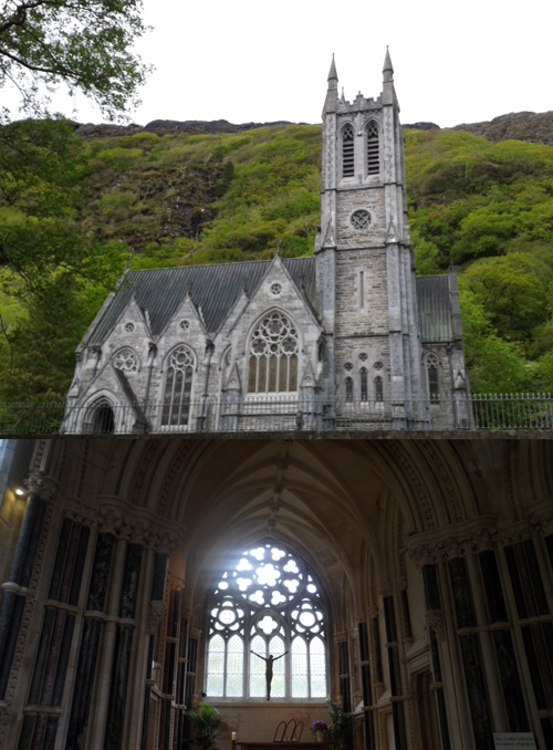 죽은 아내를 위해 설립한 고딕식 성당