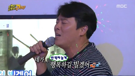 지난 8일 방영한 MBC <무한도전-토요일 토요일은 가수다> 한 장면