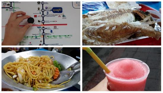 방콕 야시장에서 먹은 음식들